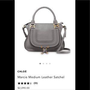 CHLOE Marcie MD Leather Satchel.Missing STRAP.